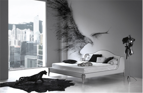 black and white bedroom 2
