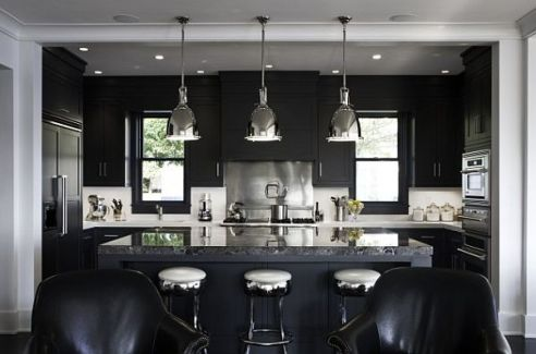 black-and-white-kitchen-with-minimalist-lighting