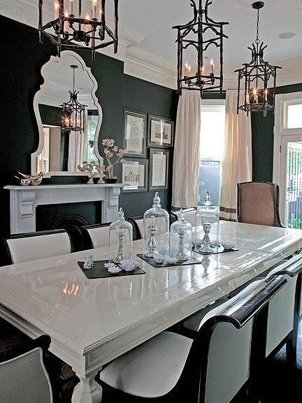 Black-Classical-Dining-Room