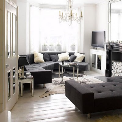 Ideas for black and white design - BLACK & WHITE INTERIORS_via Luscious life blog